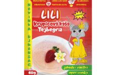 Krupicová kaša LILI jahoda-vanilka 40g